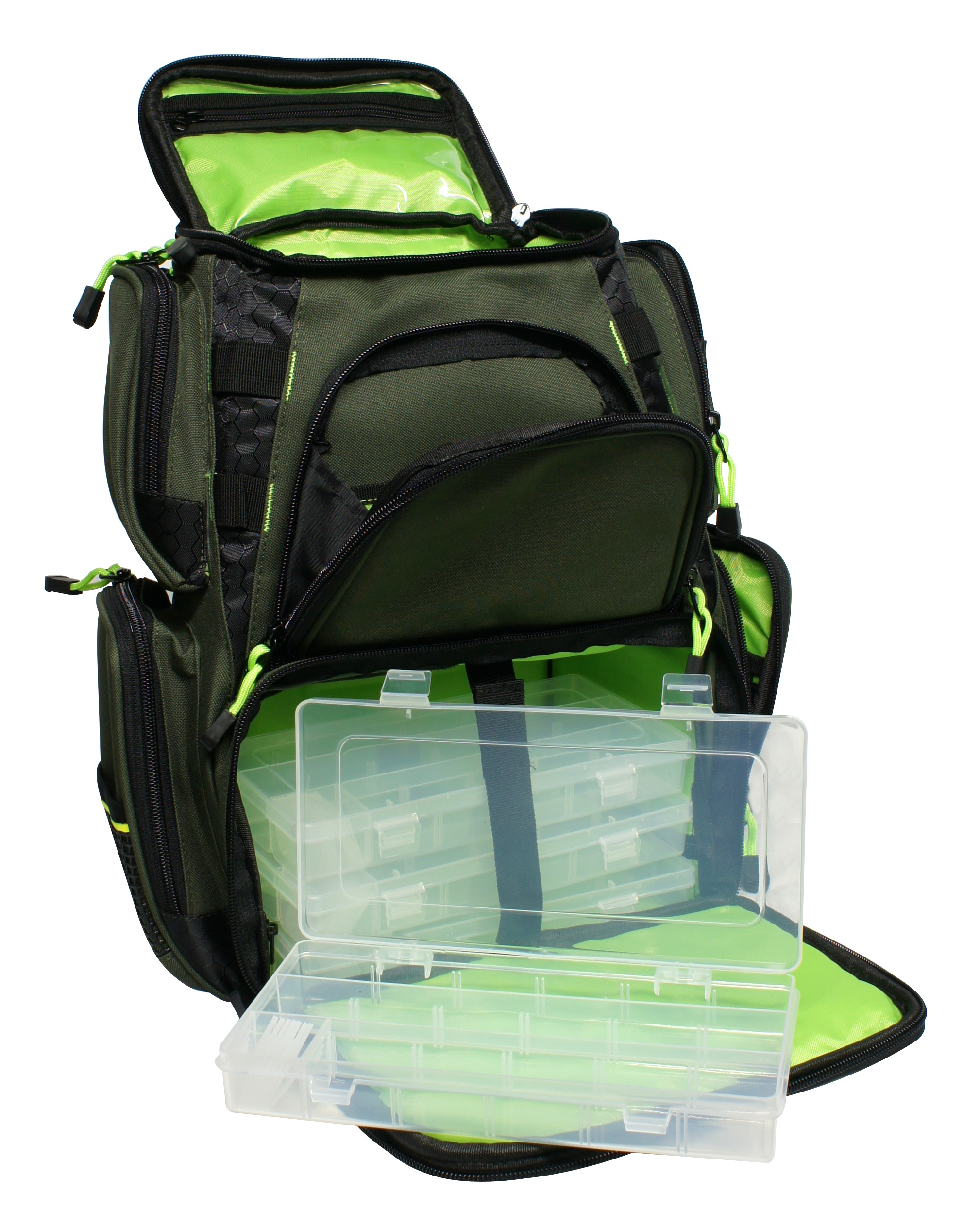 Backpack with 4 Lure Boxes