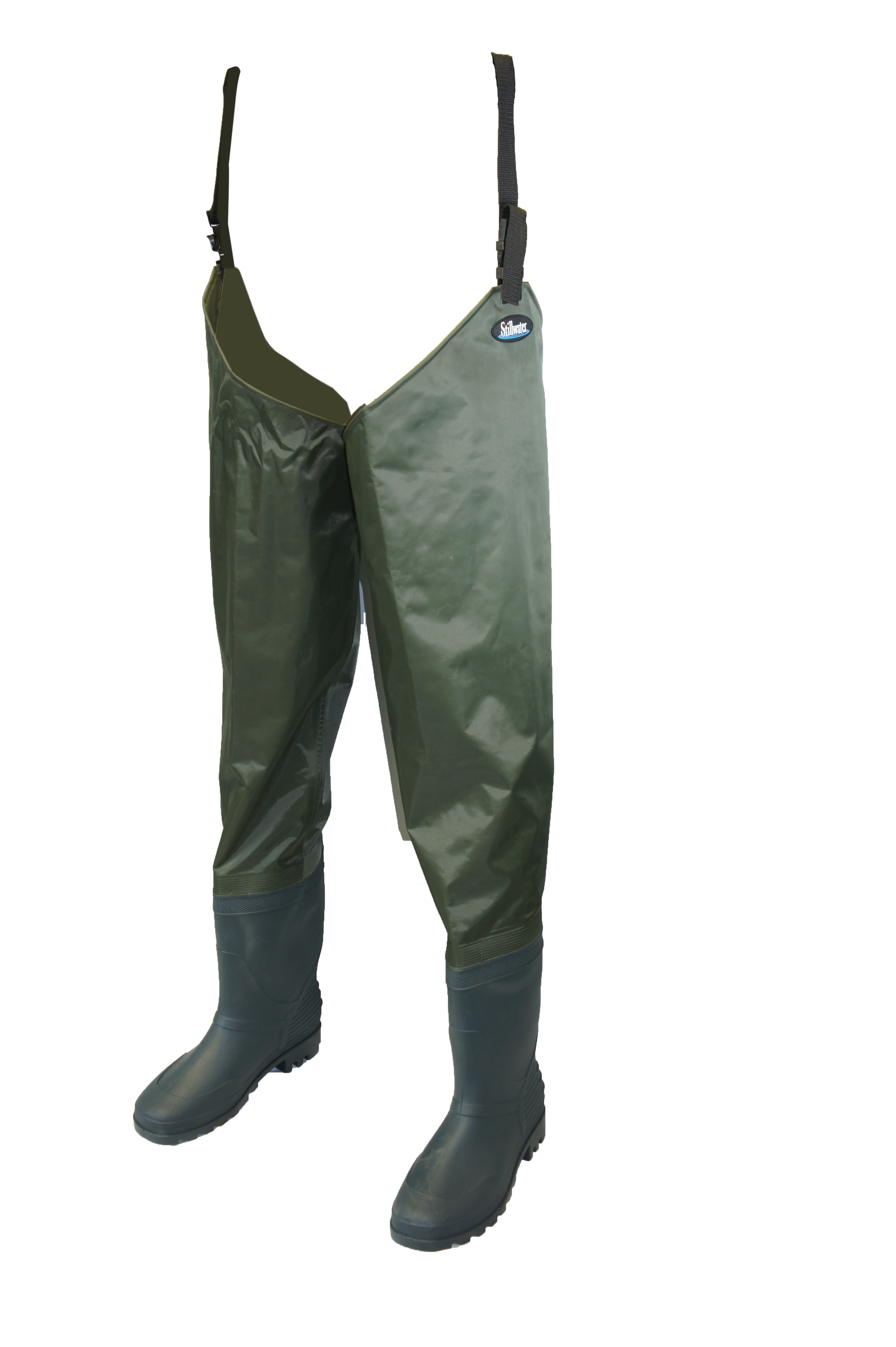 Stillwater classic pvc bootfoot thigh waders glasgow for Best fly fishing waders