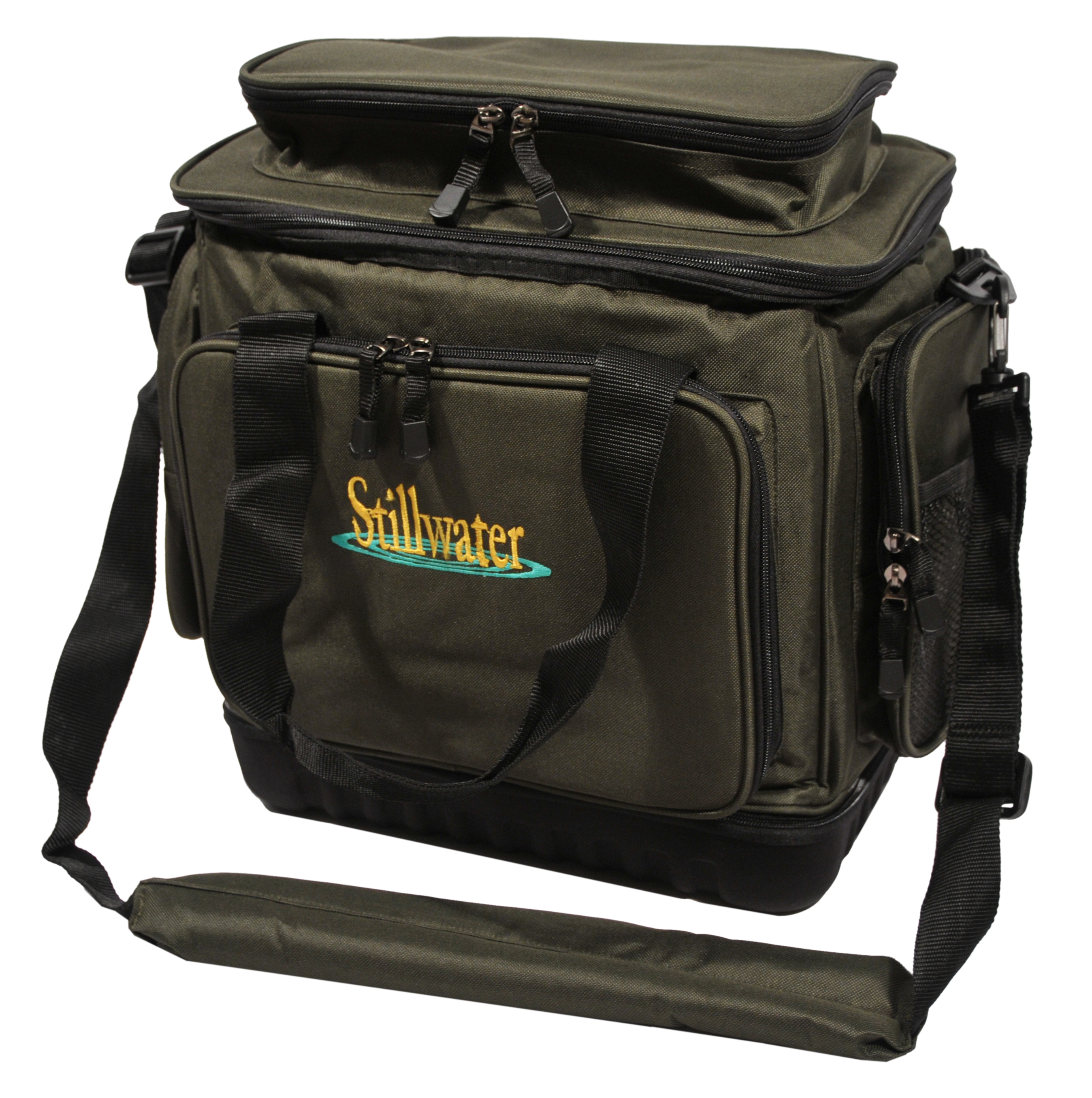 Stillwater module rig 39 n 39 bait bag glasgow angling centre for Rigged fishing backpack