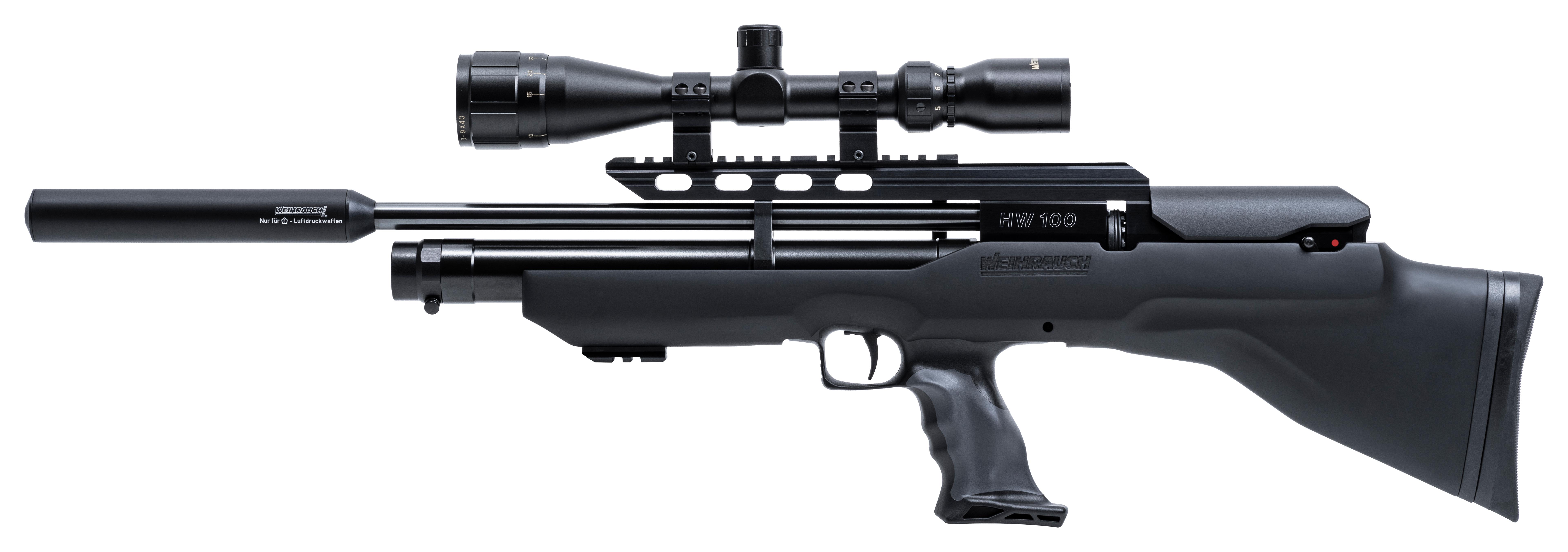 Weihrauch HW100 Bullpup Black/Grey Synthetic Air Rifle ...