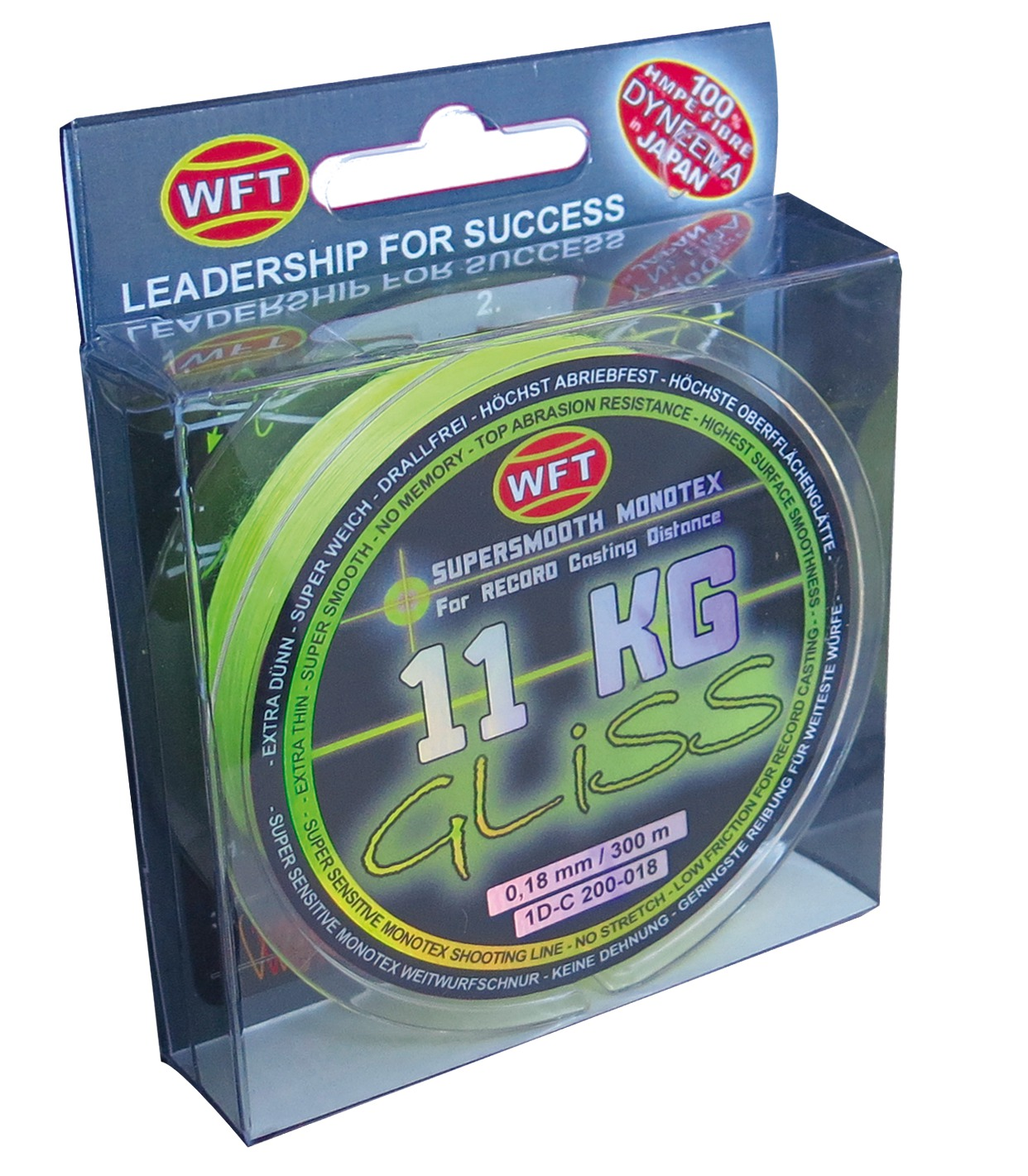 Wft gliss monotex line glasgow angling centre for Gliss fishing line