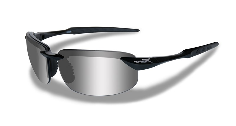 f3daf2cac84 Wiley X Brick Sunglasses Polarized Smoke Grey Gloss Black