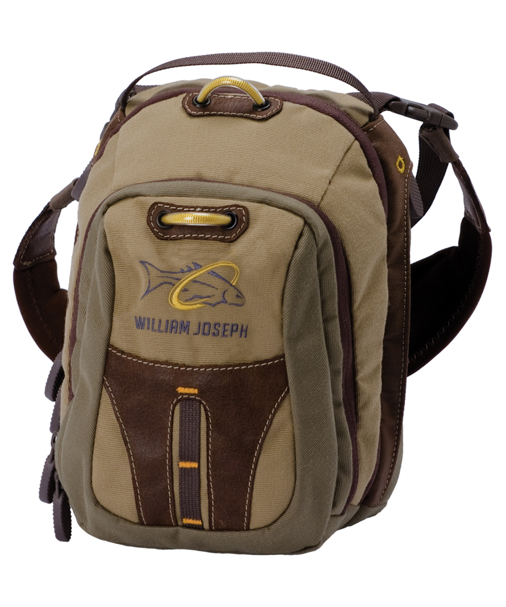 William joseph old school chest pack brown glasgow for Fishing chest pack