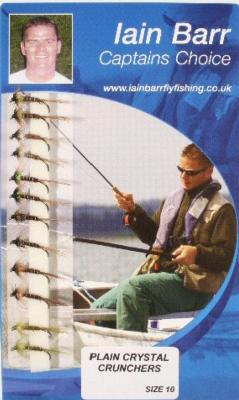 Iain Barr/'s NEW Fly Fishing Sets Black Crystal Crunchers Size 12