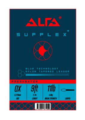 Alfa Fishing Supplex Blue Camo Tapered Leader 9ft