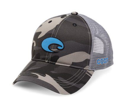 Costa Del Mar XL Logo Camo Trucker Hat