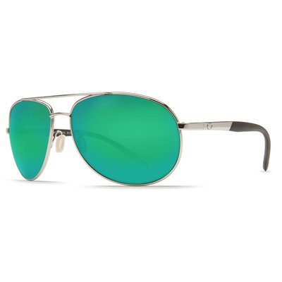 Costa Del Mar Wingman Sunglasses - Palladium with Green Mirror Lens