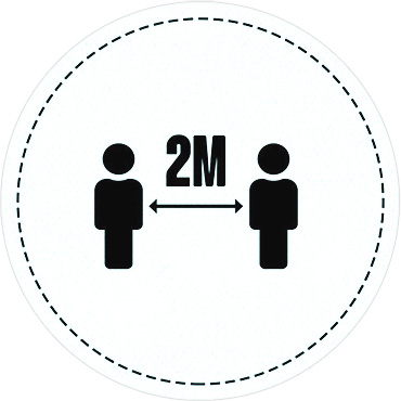 2m floor markers