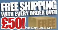 Free shipping on orders over £50!