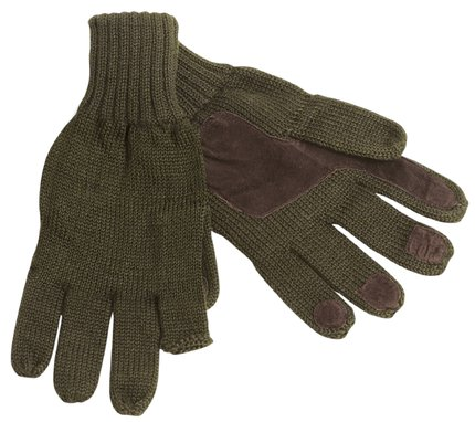 Seeland Gloves With Leather Trims Olive One Size