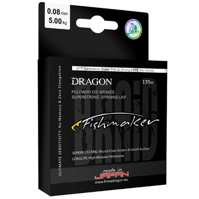 Dragon Lures Fishmaker Braided Line 135m Orange Fluoro
