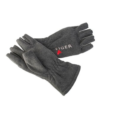 Eiger Fleece Glove Half Fingers Dark Grey