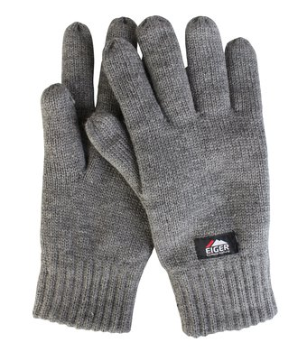 Eiger Knitted Glove with 3M Thinsulate Lining Grey