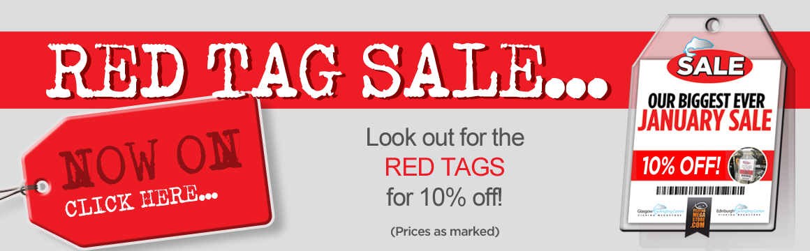 January Sale Red Tag Banner