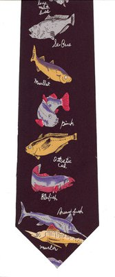 Just Fish Fish and Names Tie