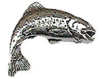 Just Fish Pewter Trout Lapel Pin