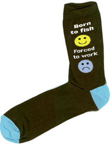 Just Fish Born To Fish, Forced To Work Socks