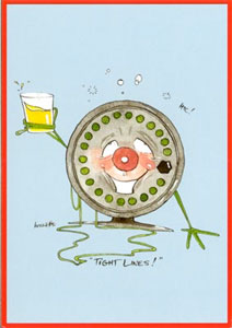Just Fish Tight Lines Greetings Card