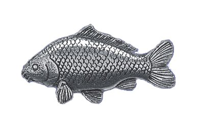 Just Fish Pewter Lapel Pin Common Carp
