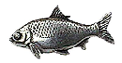 Just Fish Pewter Lapel Pin Roach