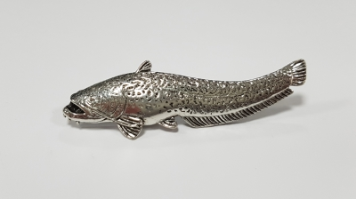Just Fish Pewter Pin Wells Catfish