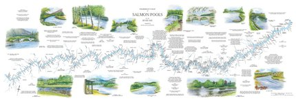 Fishing Maps Scottish River Map Dee