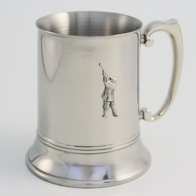 Just Fish Stainless Steel Tankard With Pewter Hunting Motif