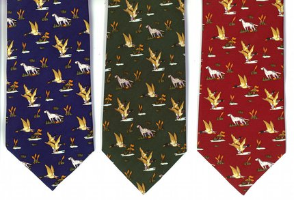 Just Fish Dog and Duck Silk Tie