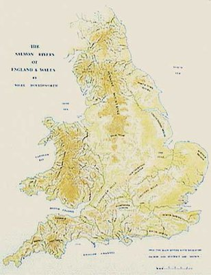 Fishing Maps English & Welsh Salmon Rivers Map