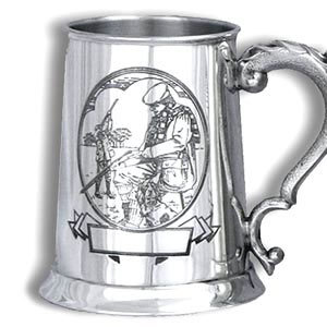 Just Fish Shooting pewter tankard