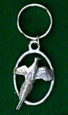 Just Fish Pewter Keyring Pheasant