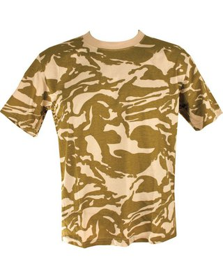 Kombat Cotton Tee Shirt Desert Camo