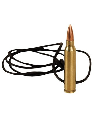 Kombat Replica .556 Nato Bullet Brass Leather Necklace