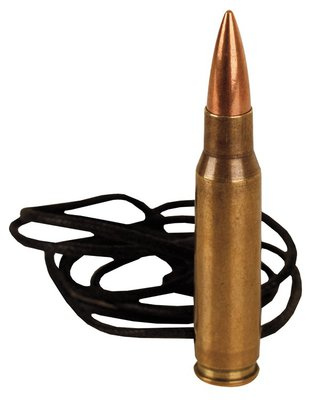 Kombat Replica 7.62 Nato Bullet Brass Leather Necklace