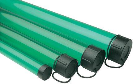 Leeda plastic rod tubes green glasgow angling centre for Fishing rod tubes