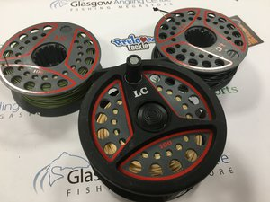Preloved Leeda LC 100 Fly Reel with 2 Spare Spools (England) - Excellent