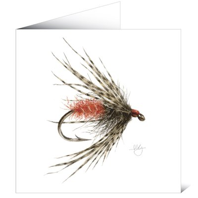 Mayfly Art Soft Hackly Fly Greetings Card