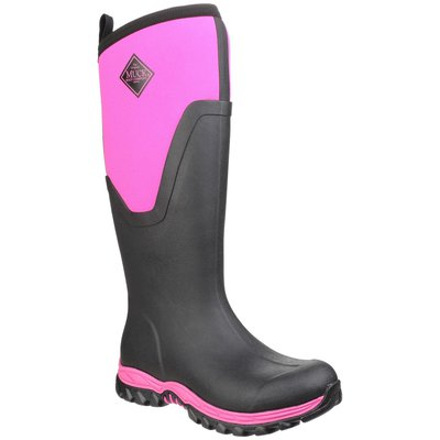 Muck Boots Arctic Sport Tall II Pull On Wellington Boot Black/Pink
