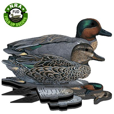 NRA FUD Green Wing Teal Decoys x 6