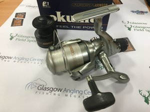 Preloved Okuma Aurora AU140 Fixed Spool Reel with Spare Spool (Boxed) - Used