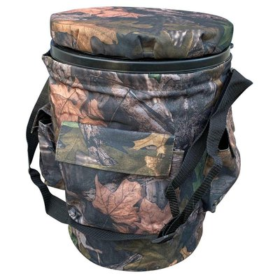 On Point Spinning Camo Bucket Seat with Strap
