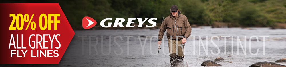 20% off greys fly lines