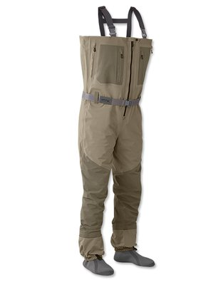 Orvis Silver Sonic Zipper Wader Olive