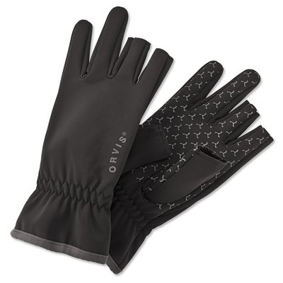 Orvis Soft Shell Black Gloves