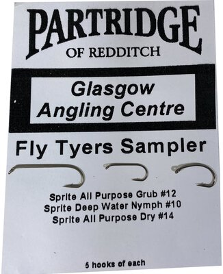 Partridge Sprite Fly Tyers Row Sampler Hook Pack 15pc