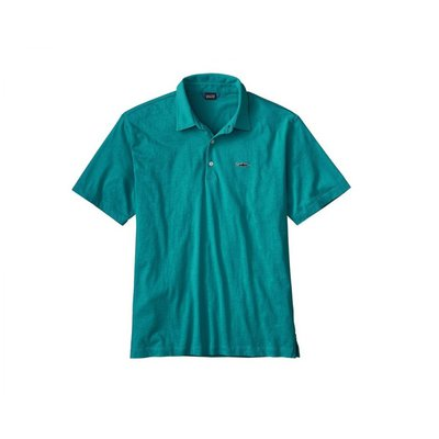 Patagonia Men's Polo - Trout Fitzroy Elwha Blue