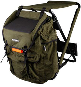Ron thompson hunter backpack chair wide glasgow angling for Fishing backpack chair