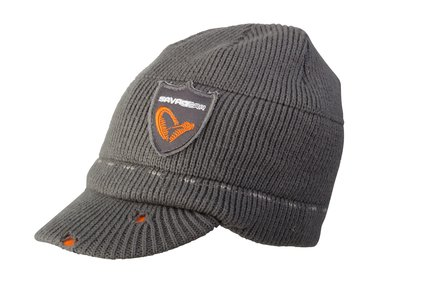 Savage Gear Knit Beanie Grey With Brim
