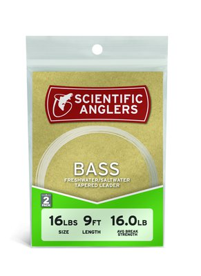 Scientific Anglers Bass Leader 9' 20# (0.36 mm) 2-pack