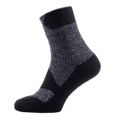 Sealskinz Walking Thin Ankle Sock Dark Grey/Black